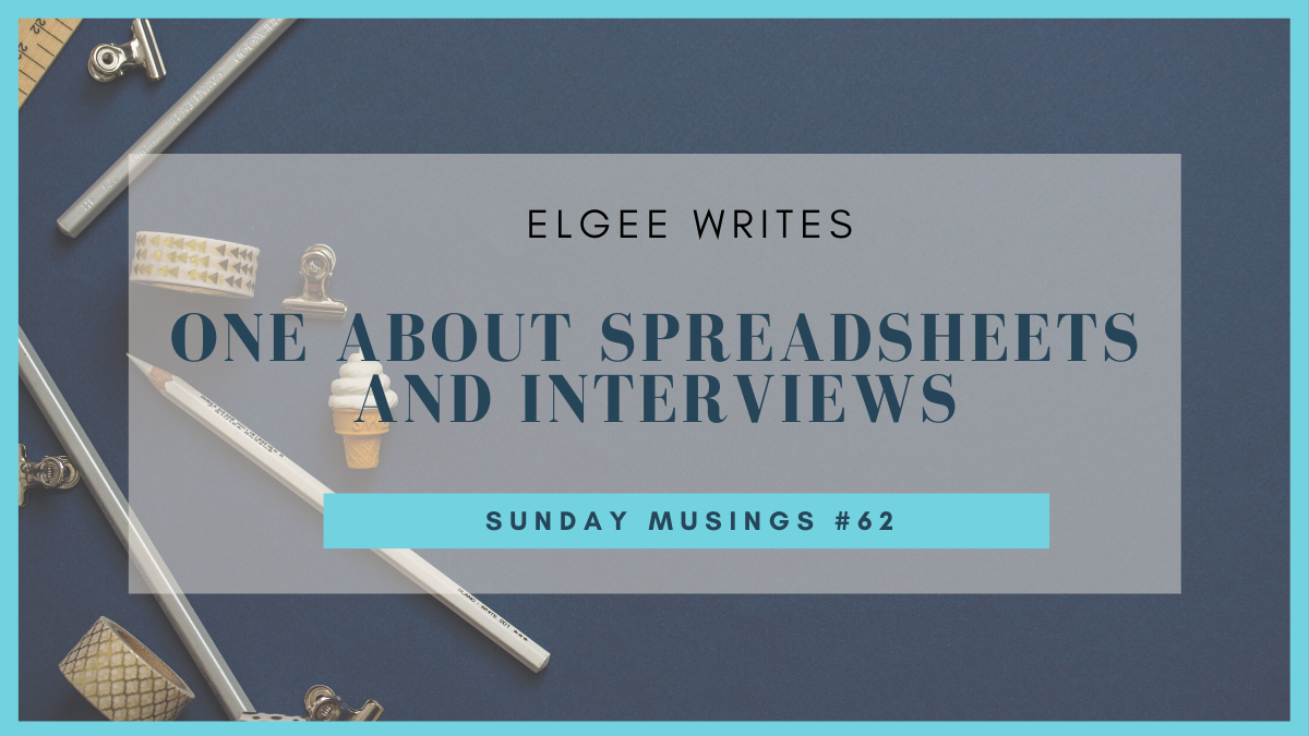 About spreadsheets and my interview: Featured image